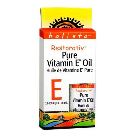 Holista Restorativ Витамин Е чисто етерично масло за красива кожа х28 милилитра Natural Factors