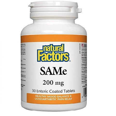 Natural Factors SAMe За тонус и спокоен сън 200мг х30 таблетки