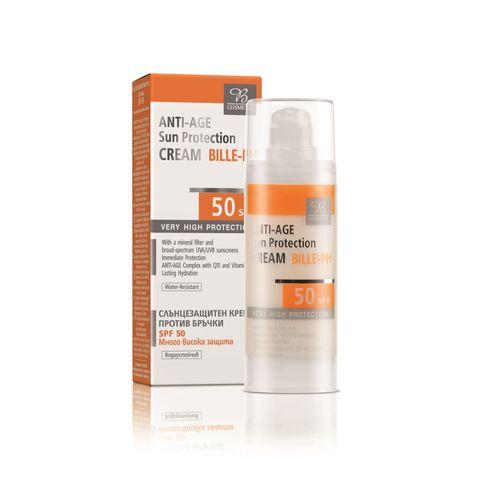 Биле Слънцезащитен крем с противостареещ ефект SPF50 х30 мл