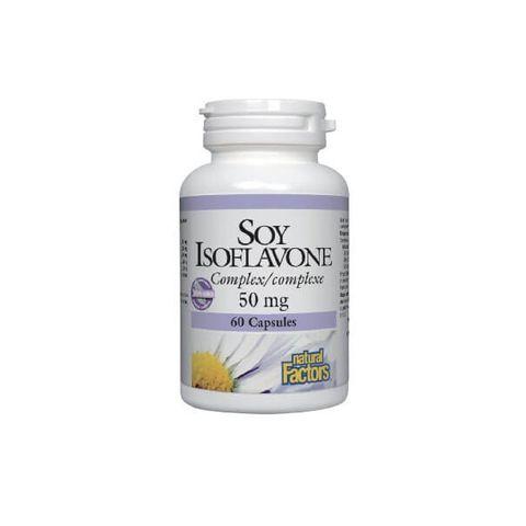 Natural Factors Soy Isoflavone Complex При недостиг на естрогени 50 мг х60 капсули