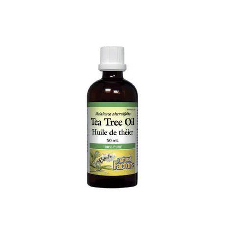Natural Factors Tea Tree Oil Срещу възпаления по кожата х50 мл
