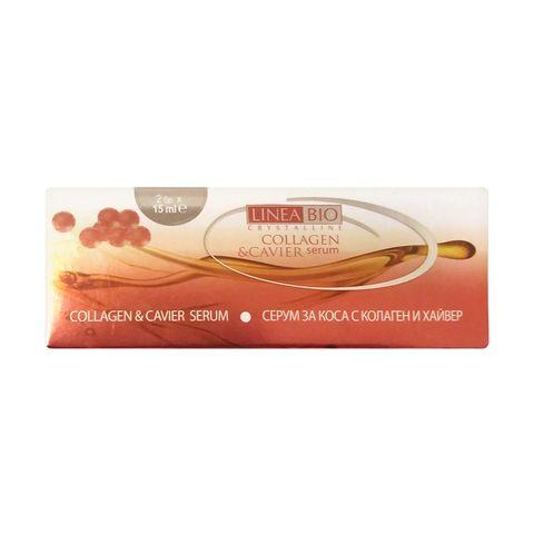 Linea Bio Collagen & Cavier Серум за коса с колаген и хайвер х 2 броя