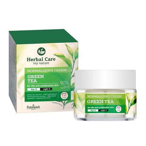 Farmona Herbal Care Матиращ крем за лице със зелен чай за мазна и смесена кожа x50 мл