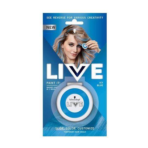 Schwarzkopf Live Paint It! Апликатор за коса за временни кичури, цвят Icy Blue