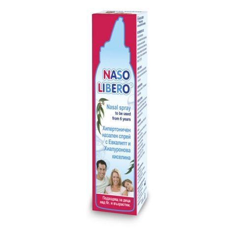 Naso Libero Хипертоничен спрей с евкалипт и хиалуронова киселина, 2% NaCl + HA х100 мл