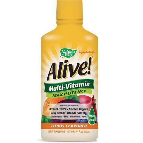 Alive Max Potency Liquid Течен Мултивитамин х900мл Nature's Way