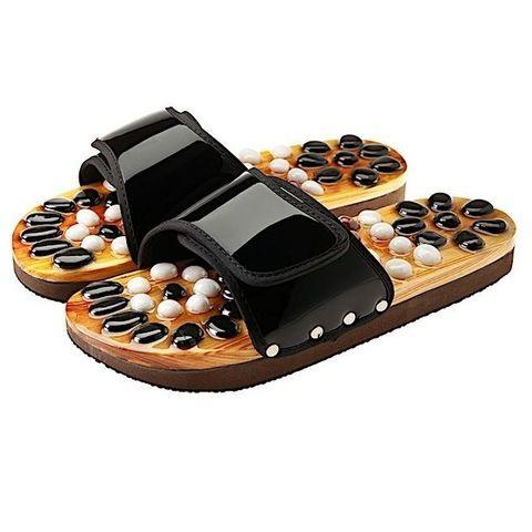 Casada Масажни чехли за рефлексотерапия с естествени камъни №35-36