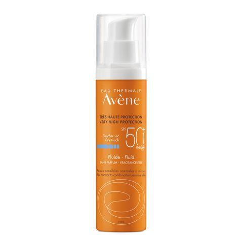Avene Слънцезащитен флуид за лице за нормална до комбинирана чувствителна кожа SPF 50+ x50 мл