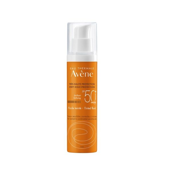 Avene Слънцезащитен тониран флуид за лице за нормална до комбинирана чувствителна кожа SPF 50+ x50 мл