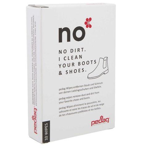 Pedag Wipes No Мокри кърпи за почистване на обувки и ботуши х10 броя