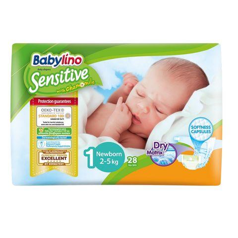 Babylino Sensitive 1 Newborn Пелени за бебета 2-5кг х28 броя