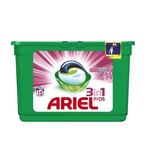 Ariel 3in1 Touch Of Fresh Капсули за пране x405 грама