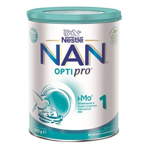 Nestle Nan OptiPro 1 HM-O Висококачествено обогатено мляко за кърмачета, от момента на раждането x800 грама