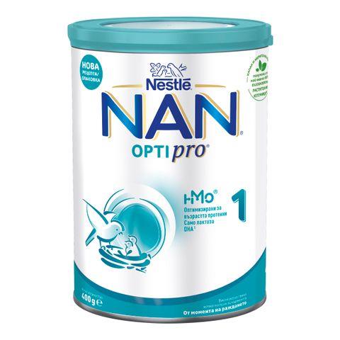 Nestle Nan OptiPro 1 HM-O  Висококачествено обогатено мляко за кърмачета, от момента на раждането x400 грама