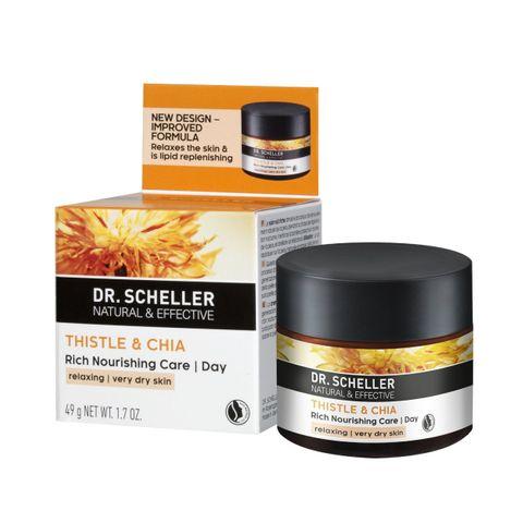Dr. Scheller Успокояващ дневен крем с магарешки трън и чиа за много суха кожа х50 мл