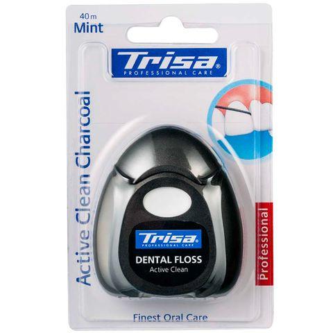 Trisa Active Clean Charcoal Конец за зъби x40 метра