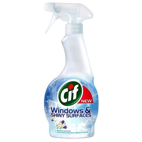 Cif Windows & Shiny Surfaces Почистващ препарат за прозорци x500 мл