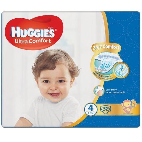 Huggies Ultra Comfort 4 Maxi Пелени за бебета и деца 8-14кг х32 броя