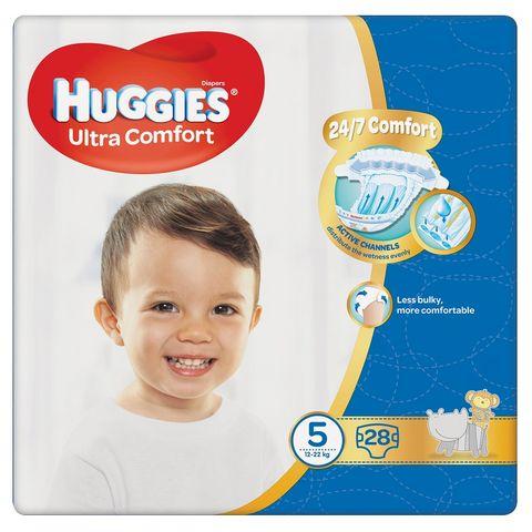 Huggies Ultra Comfort 5 Junior Пелени за бебета и деца 12-22кг х28 броя