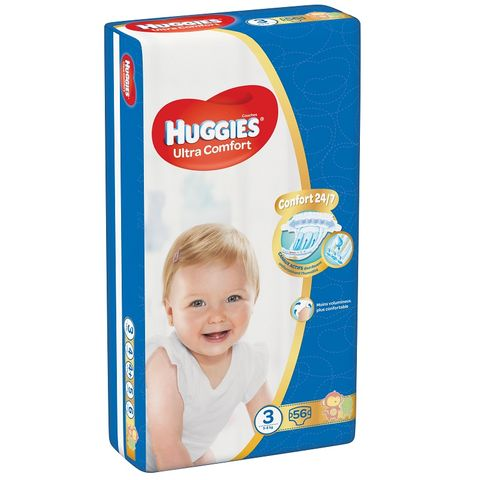 Huggies Ultra Comfort 3 Midi Пелени за бебета и деца 5-8кг х56 броя