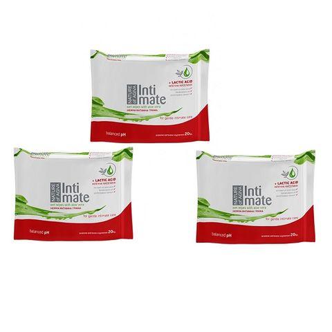 Agiva Intimate Промо пакет Интимни мокри кърпи с алое 2+1