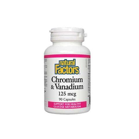Natural Factors Chromium & Vanadium 125 µg х90 капсули