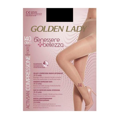 Golden Lady Benessere Bellezza 140 Дамски чорапогащник с компресия, цвят Nero, размер 5-XL х1 брой