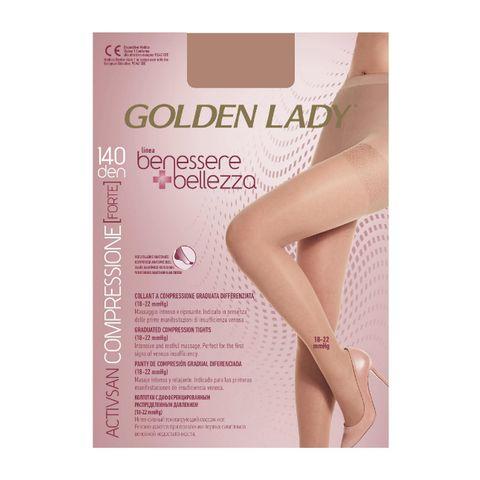Golden Lady Benessere Bellezza 140 Дамски чорапогащник с компресия, цвят Playa, размер 4-L х1 брой