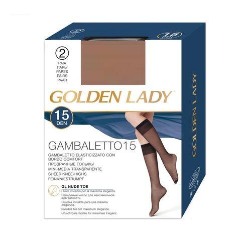Golden Lady Gambaletto 15 Еластични чорапи за жени, цвят Daino х1 брой
