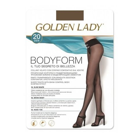 Golden Lady Body Form Дамски еластичен чорапогащник, цвят Castoro, размер 4-L х1 брой