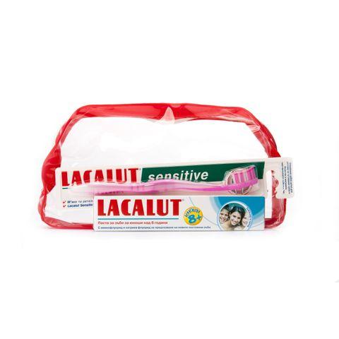 Lacalut Teens Промо комплект Четка за зъби, Паста за юноши 8+ години и подарък Несесер