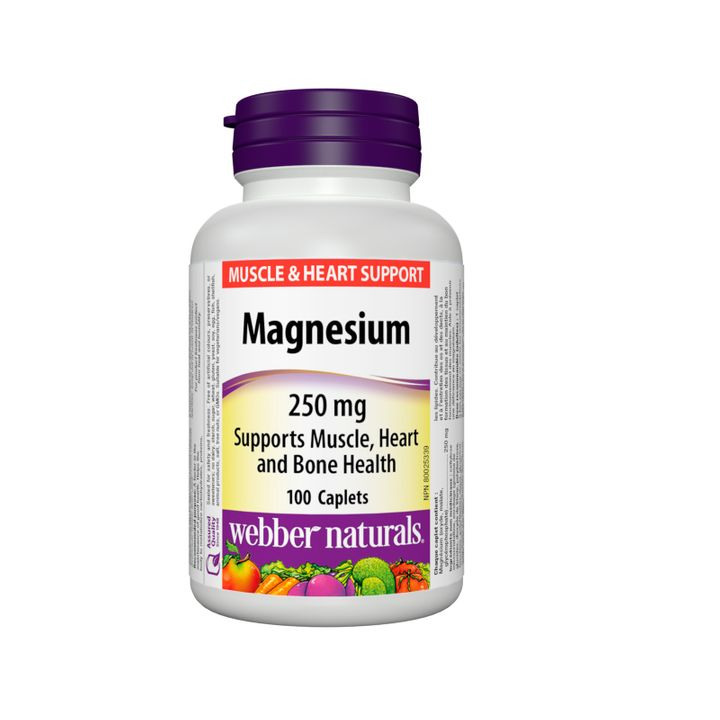 Webber Naturals Магнезий 250 мг х100 капсули