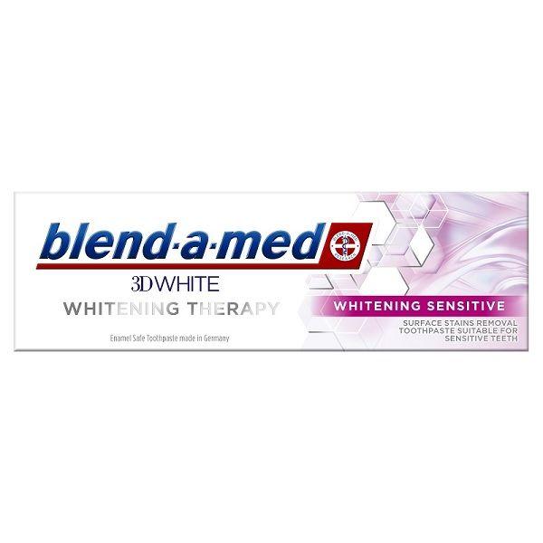 Blend-a-Med 3D Whitening Sensitive Избелваща паста за чувствителни венци х75 мл