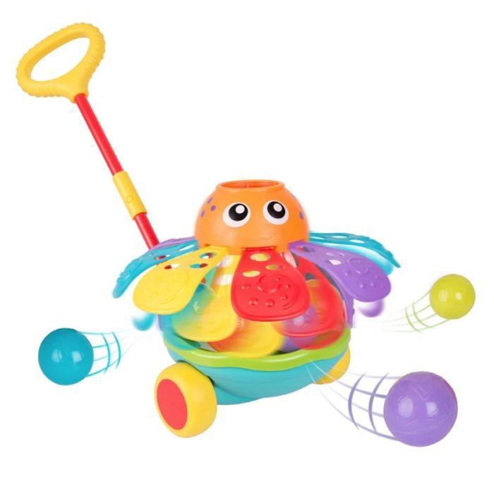 Playgro Активна играчка за бутане с топчета - Октопод за деца над 12 месеца - 0721