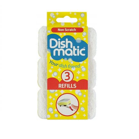 Fino Dishmatic Sponges Refills Non Scratch Домакинска Гъба за деликатни повърхности x3 броя