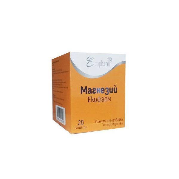 Ecopharm Магнезий при умора и отпадналост 3,6 грама х20 сашета