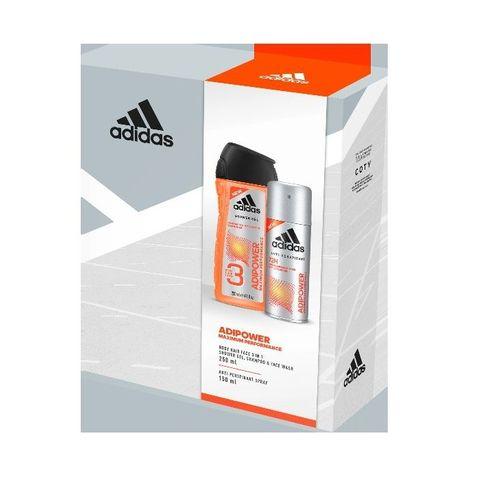 Adidas Adipower Промо комплект за мъже Душ гел за лице, коса и тяло и Дезодорант против потене