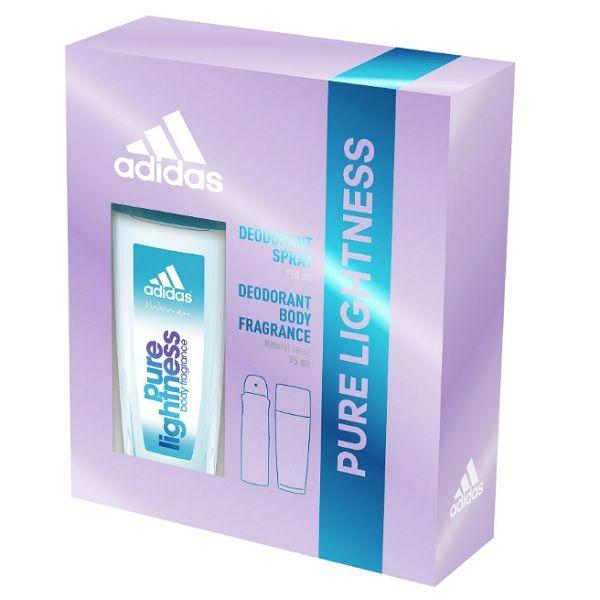 Adidas Pure Lightness Промо комплект за жени Дезодорант и Парфюмен спрей