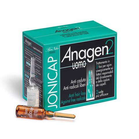 Bionike Jonicap Anagen2 Двуфазен лосион за мъже против косопад 12х6 мл