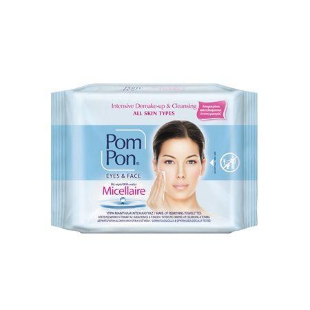 Pom Pon Почистващи мицеларни кърпи за грим х20 броя