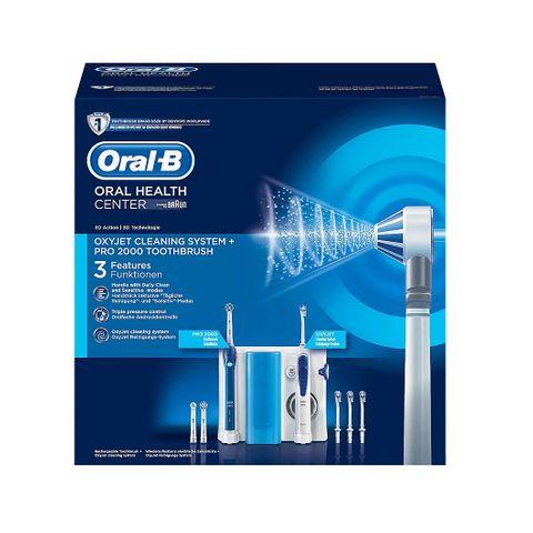 Oral B Oral Health Center Oxyjet Pro 2000 Зъбен център с електрическа четка и зъбен душ