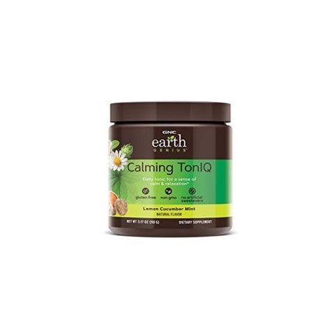 GNC Earth Genius Calming TonIQ при стрес и преумора С вкус на лимон, краставица и мента х90 грама