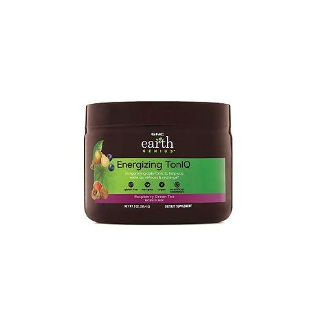 GNC Earth Genius Energizing TonIQ За тонус и енергия С вкус на малина и зелен чай х86.4 грама