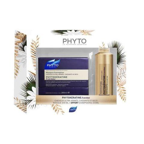 Phyto Phytokeratine Extreme Промо комплект Възстановяваща маска и Шампоан за силно увредена и суха коса