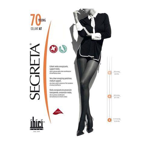 Segreta Collant AT 70 Young Енергизиращ дамски чорапогащник със средна компресия, цвят Chamois, размер 4 х1 брой