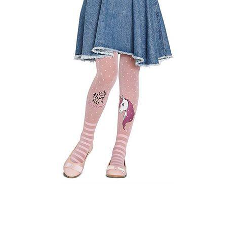 Penti Pretty Unicorn 30 DEN Детски чорапогащник, цвят Pink, размер 6-8 години x1 брой