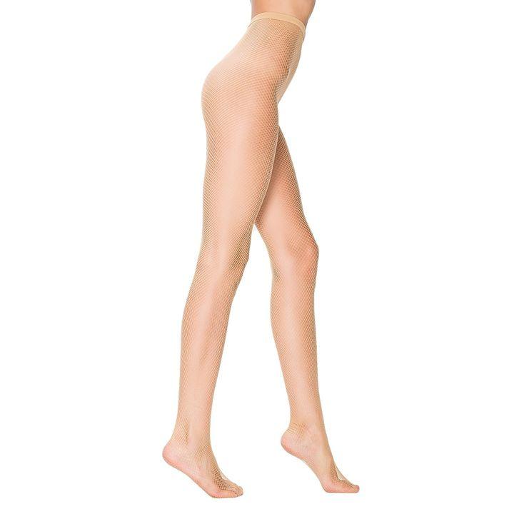 Penti Trendy Мрежест фигурален чорапогащник, цвят Nude, размер S/M