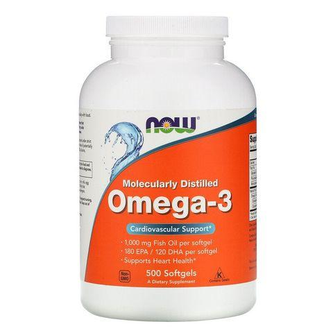 Now Foods Омега 3 1000 мг х500 софтгел капсули