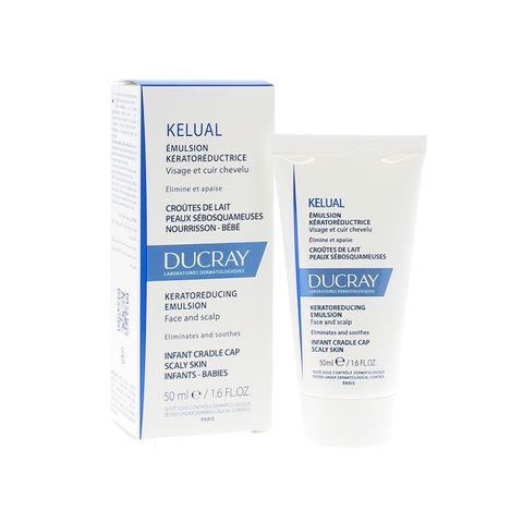 Ducray Kelual Кераторедуцираща емулсия за лице и скалп при кърмачета и бебета х50 мл