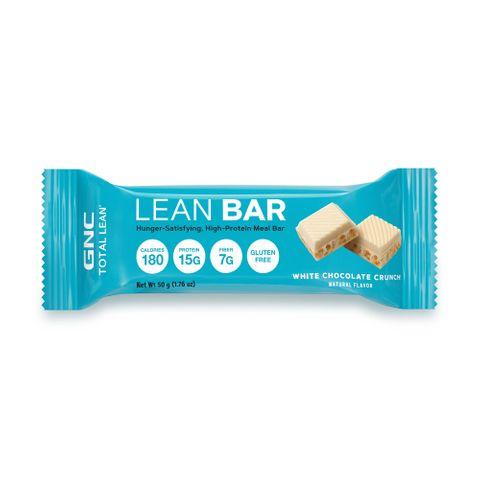 GNC Total Lean Bar White Chocolate Crunch Протеиновото барче с вкус на бял шоколад крънч х50 грама